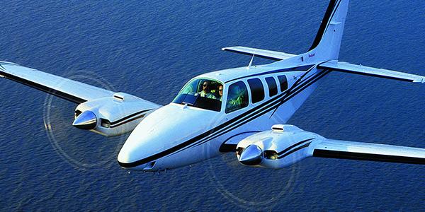 Twin piston aircraft