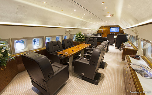 Private jet conference room