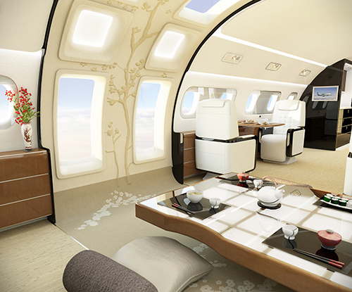 Entertainment suite of Kyoto airship