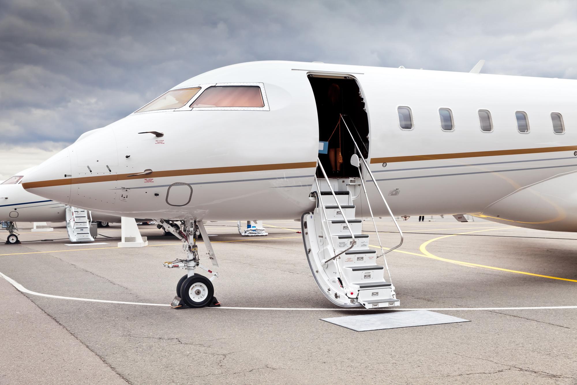 private-jet-with-open-door