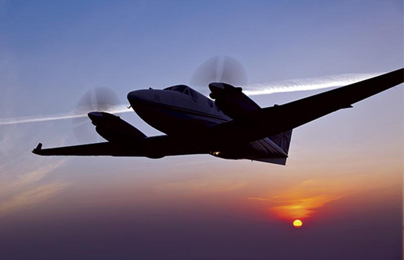 Turbo jet on runway