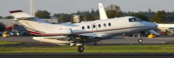 Jet flying off runway